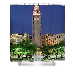 Terminal Tower Shower Curtain
