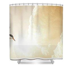 Tern In Flight, Spiritual Light Of Dusk Shower Curtain