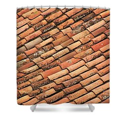 Terra Cotta Tiles Shower Curtain by Michele Penner