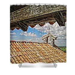 Terra Cotta Church Shower Curtain