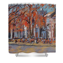 Terrace In The Grand Tanners Street Maastricht Shower Curtain by Nop Briex