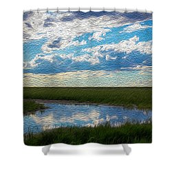 Terrace Pond Shower Curtain
