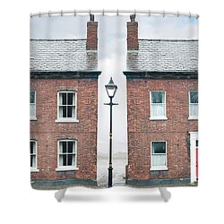 Terraced Houses Shower Curtain