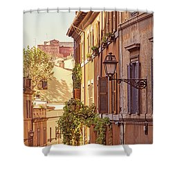 Shower Curtain featuring the photograph Terracotta - Rome Italy Travel Photography by Melanie Alexandra Price