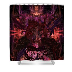 Shower Curtain featuring the digital art Terrible Certainty by Reed Novotny