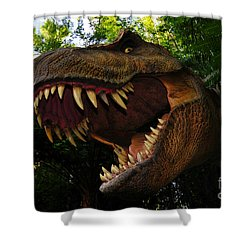 Terrible Lizard Shower Curtain by David Lee Thompson