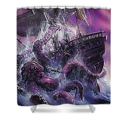 Terror From The Deep Shower Curtain by Oliver Frey