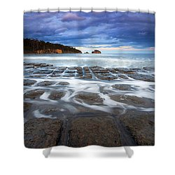 Tessellated Flow Shower Curtain by Mike  Dawson