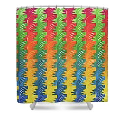 Tessellation Shower Curtain by Jacqueline Phillips-Weatherly