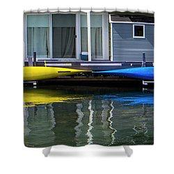 Marina Living In Victoria British Columbia 2to1 Shower Curtain by Ben and Raisa Gertsberg