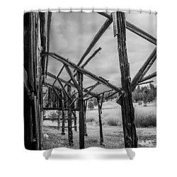 Testament Shower Curtain by Rhys Arithson
