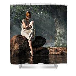 Testing The Waters Shower Curtain by Daniel Eskridge