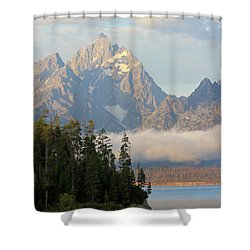 Teton Early Morning Shower Curtain