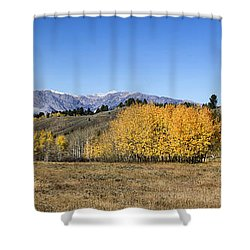 Shower Curtain featuring the photograph Teton Panorama by Shirley Mitchell