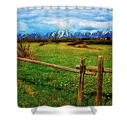 Shower Curtain featuring the photograph Teton Park Spring by Norman Hall