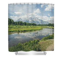 Teton Reflections Shower Curtain