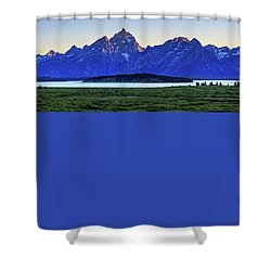 Shower Curtain featuring the photograph Teton Sunset by David Chandler