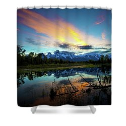 Shower Curtain featuring the photograph Teton Sunset by Norman Hall