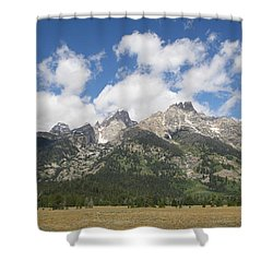 Teton View Shower Curtain by Diane Bohna