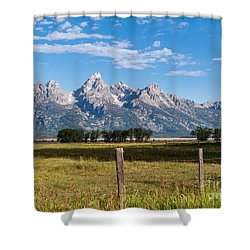 Tetons From Mormon Row Shower Curtain