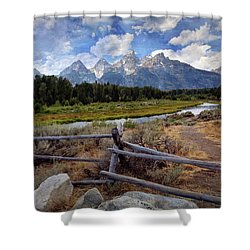 Tetons Grande 3 Shower Curtain