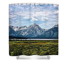 Tetons - Panorama Shower Curtain