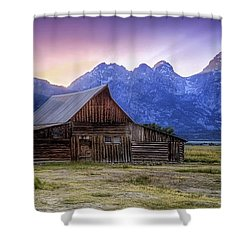 Tetons Sunset Shower Curtain