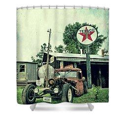 Texaco Shower Curtain by Joel Witmeyer