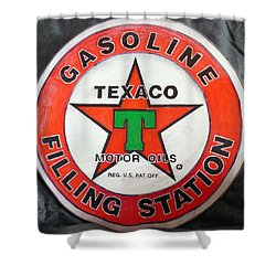 Texaco Sign Shower Curtain
