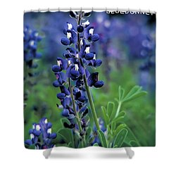Shower Curtain featuring the mixed media Texas Bluebonnet State Flower by Daniel Hagerman