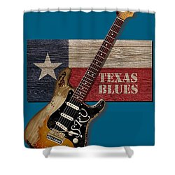 Texas Blues Shirt Shower Curtain