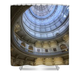 Texas Capitol Dome Interior Shower Curtain