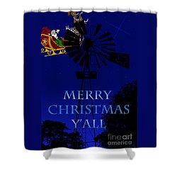 Texas Christmas Card Shower Curtain