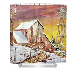 Texas Coldfront Shower Curtain