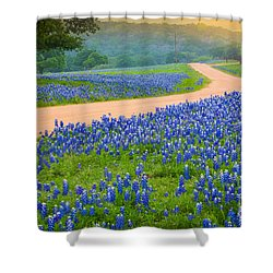 Texas Country Road Shower Curtain