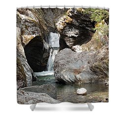 Texas Falls In Vermont Shower Curtain