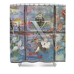 Texas Flowers In Blue Shower Curtain