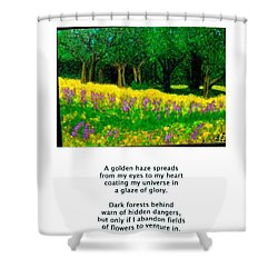 Texas Gold Shower Curtain by Carolyn Donnell