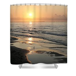 Texas Gulf Coast At Sunrise Shower Curtain by Marilyn Hunt