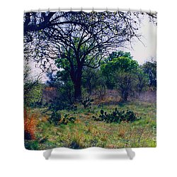 Texas Hill Country Shower Curtain by Fred Jinkins