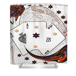 Texas Hold Em Poker Shower Curtain by Pepita Selles