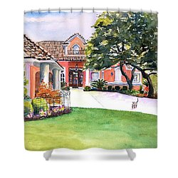 Texas Home Spanish Tuscan Architecture  Shower Curtain