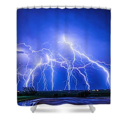 Texas Light Show Shower Curtain