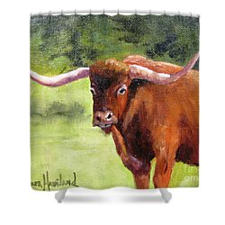 Texas Londhorn Shower Curtain