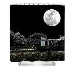 Shower Curtain featuring the photograph Texas Moon by Travis Burgess