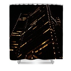 Texas Night Shower Curtain by Linda Shafer