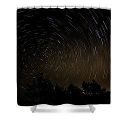 Texas Star Trails Shower Curtain
