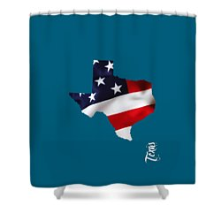 Texas State Map Collection Shower Curtain by Marvin Blaine