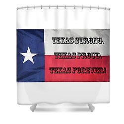Texas Strong Shower Curtain