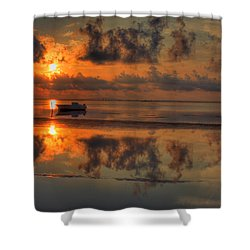 Texas Sunset Gulf Of Mexico Shower Curtain by Kevin Hill